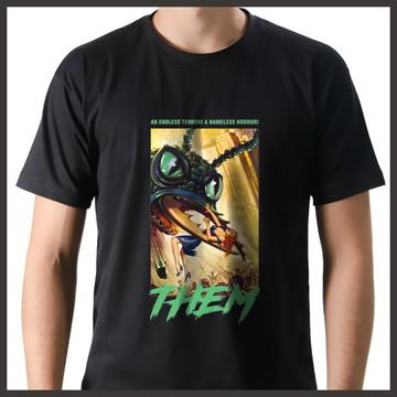 Camiseta Geek Filme Trash Terror Vintage Them