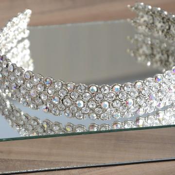 Tiara Luxo Cristal Borel