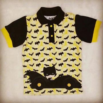 Camisa Pólo Infantil Batman Cute