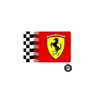 Adesivo Ferrari Bandeira Quadriculada Flag F1 Formula 1