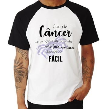 Camiseta Raglan Sou de Câncer