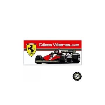 Adesivo Gilles Villeneuve Ferrari 312T3 F1 Formula 1 Carros