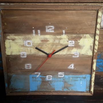 Relógio de parede vintage rústico provençal