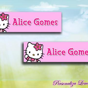 Mini Etiqueta para Lápis Hello Kitty