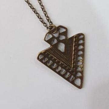 colar bijuteia ouro velho