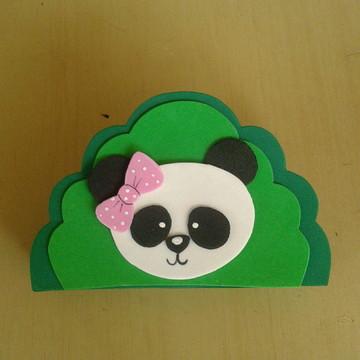 porta guardanapo panda eva