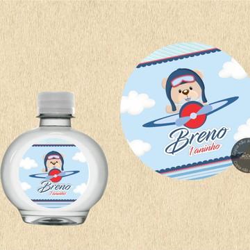 Adesivo para água Ursinho Aviador