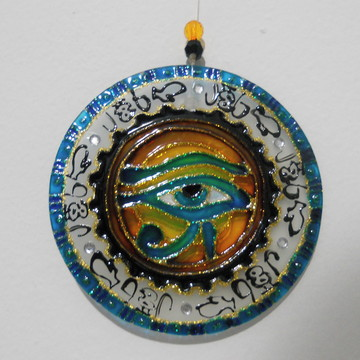 Mandala Em Vidro Olho De Horus 10 Cm