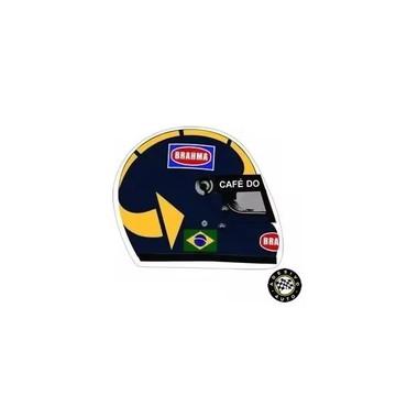 Adesivo José Carlos Pace Capacete F1 Formula 1