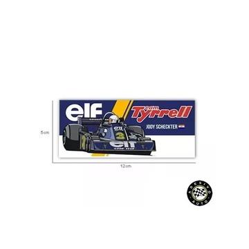 Adesivo Tyrrell P34 Jody Scheckter Elf F1 Formula 1