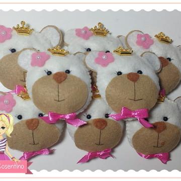 Chaveiro de feltro - Ursa Princesa
