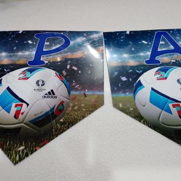 Futebol Faixa parabens + nome personalizada