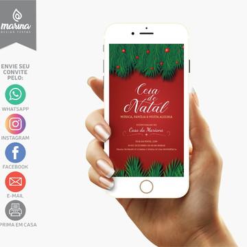 Convite Ceia de Natal Árvore | DIGITAL