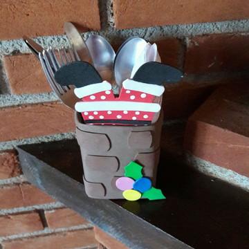 Porta guardanapo e talheres natal