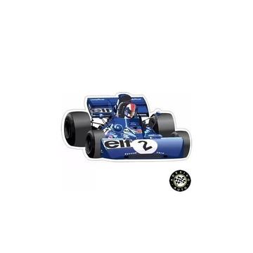 Adesivo François Cevert Elf Team Tyrrell 003 F1 Formula 1