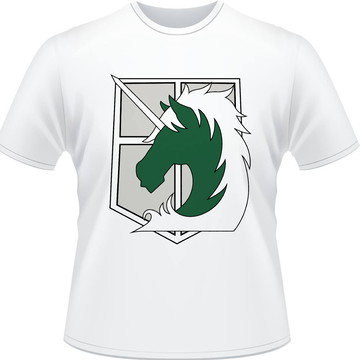 Camiseta Attack on Titan Military Forces Masculina