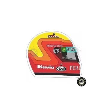 Adesivo Maurício Gugelmin Capacete F1 Formula 1 Leyton House
