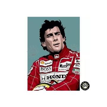 Adesivo Ayrton Senna Do Brasil F1 Formula 1 Pronta Entrega