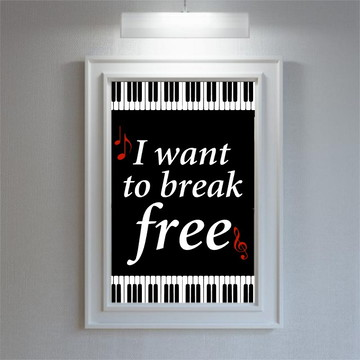 Imagem para porta retrato Festa do Rock I want to break free
