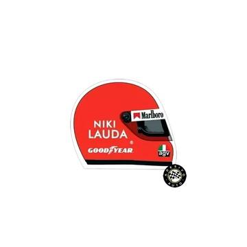 Adesivo Capacete Niki Lauda Helmet Sticker F1 Formula 1
