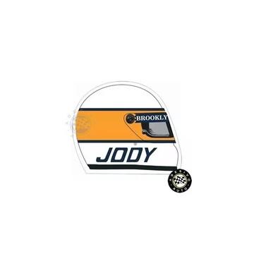 Adesivo Capacete Jody Scheckter F1 Formula 1