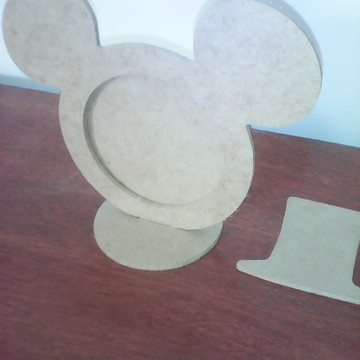 PORTA RETRATO MICKEY CARTOLA COM BORDA E FUNDO