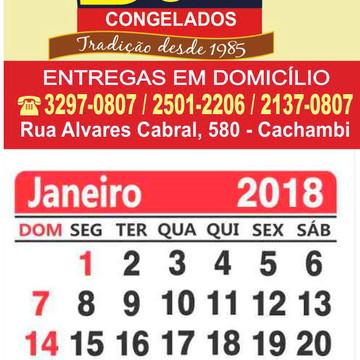 85fcf8148 IMÃ DE GELADEIRA COM CALENDÁRIO 2019 - 500 UNIDADES - 5 X 4