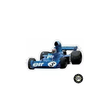 Adesivo Jackie Stewart Elf Team Tyrrell 006 1973 Formula 1