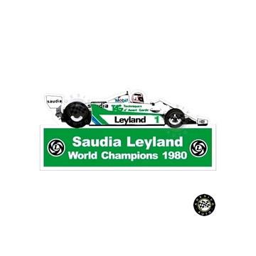 Adesivo Saudia Leyland Williams FW07C F1 Formula 1