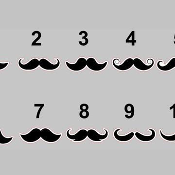 Aplique 3 cm - Bigode Mustache