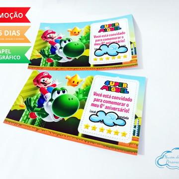Convite Super Mario Bros