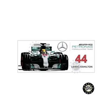 Adesivo Lewis Hamilton 44 Mercedes F1 W08 Formula 1