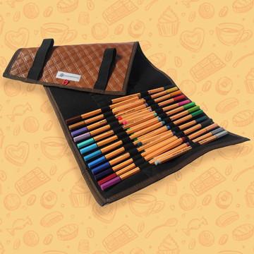 Estojo rolinho Caramelo para Lápis de Cor ou Canetinhas (G)