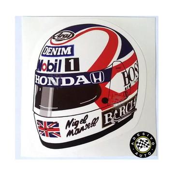 Adesivo Nigel Mansell F1 Capacete 1987 Formula 1