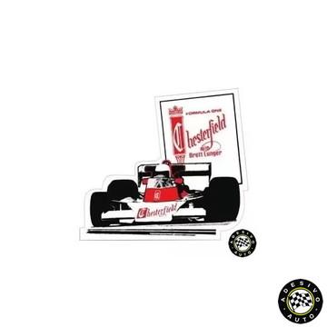 Adesivo Chesterfield Team Brett Lunger Mclaren M23 Formula 1