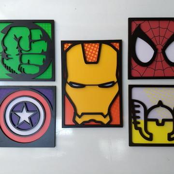 quadro super heróis os vingadores