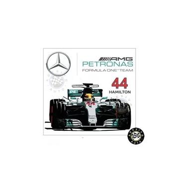 Adesivo Lewis Hamilton 44 Mercedes Petronas F1 W08 Formula 1