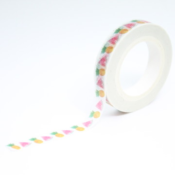 Washi Tape - Mini Washi Tape - Abacaxi e Melância