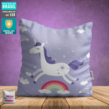 Almofada Unicornio | Tamanho 30x30 | AL00001UNI