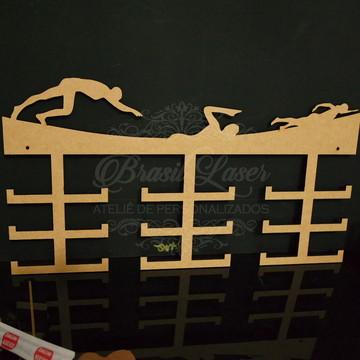 Porta Medalhas de Natação em Mdf Sem Pintura