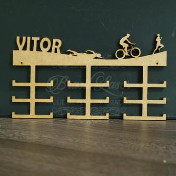 Porta Medalhas de Triathlon em Mdf Sem Pintura