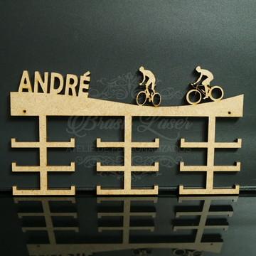 Porta Medalhas de Ciclismo em Mdf Sem Pintura
