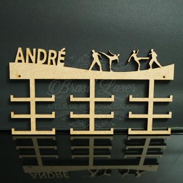 Porta Medalhas de Taekwondo em Mdf Sem Pintura