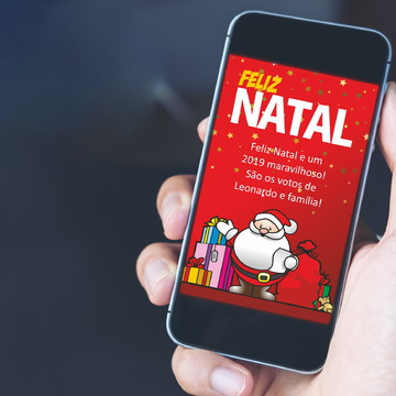 Lembrancinha de NATAL Papai Noel com Presentes