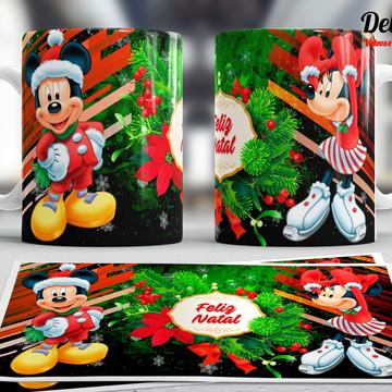 Caneca Mickey e Minnie Natal