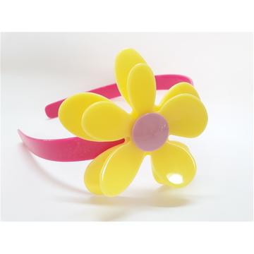 Tiara De Acrilico Flor Rosa Seco Com Miolo Amarelo Elo7
