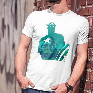 Camiseta Personalizada 100% Poliéster Captain America