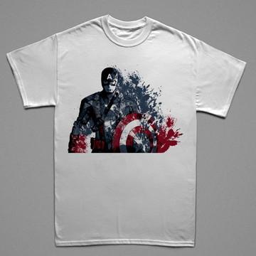 Camiseta Personalizada 100% Poliéster Captain America 2