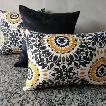 Kit almofadas tecido jacquard estampadas
