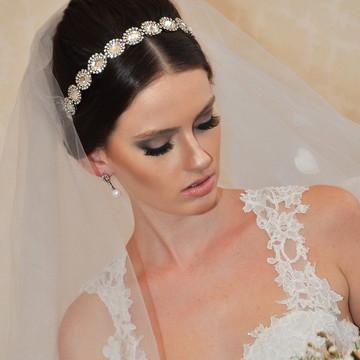 Tiara de Noiva Cristais